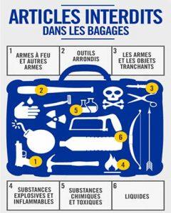 bagages interdits avion