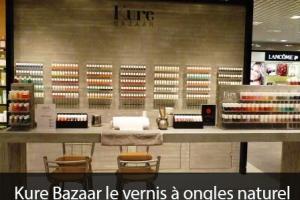 Kure Bazaar le vernis à ongles naturel nouvelle génération