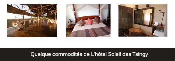 commodités de l'hotel Soleil de Tsingy