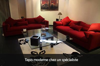 tapis moderne chez un spécialiste
