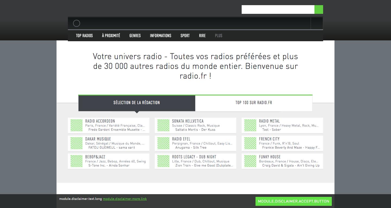Comment écouter les radios sur des portails intranet radio france?